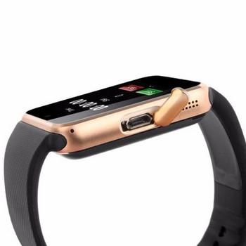 Смарт часовник с камера и измерващ мониторинг на съня - модел GT08 в  цвят черно със златисто
