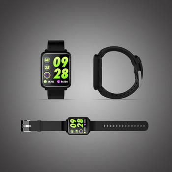 Водоустойчива фитнес гривна модел М28 измерваща сърдечният ритъм с 1.3 инча цветен дисплей -  силиконова каишка в черен цвят