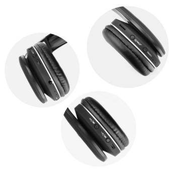 Bluetooth Stereo слушалки модел MS-K5 с FM радио, MicroSD слот и Standby режим до 100 часа - черен цвят