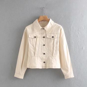 Νέο μοντέλο γυναικείο μπουφάν με τσέπες, κουμπιά και κλασικό γιακά