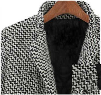 НОВ модел дамско дълго палто с копче и джоб в сив цвят
