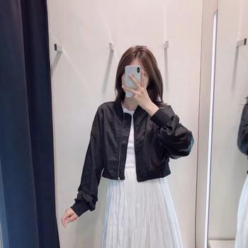 Νέο μοντέλο γυναικείο μπουφάνο - κοντό μοντέλο σε λευκό και μαύρο χρώμα