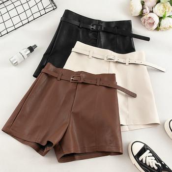 Къси дамски панталони в три цвята-от еко кожа