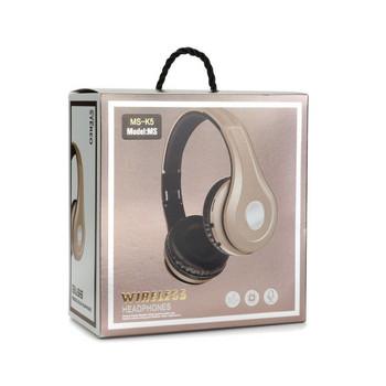 Bluetooth Stereo слушалки модел MS-K5 с FM радио, MicroSD слот и Standby режим до 100 часа