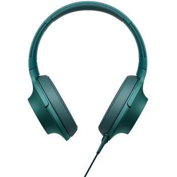 Слушалки EXTRA BASS MDR-100AAP  с микрофон и дължина на кабел 1.2 m - зелен цвят