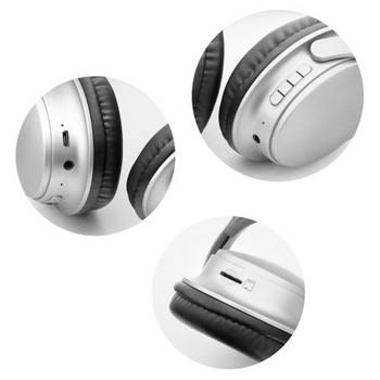 Безжични слушалки Quiet Comfort MS-K10, Bluetooth версия 5.0, поддръжка карта памет - сребрист цвят