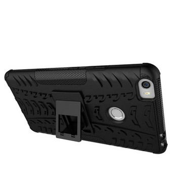 Удароустойчив  калъф за  телефон -модел Xiaomi Redmi 6A със стойка  в черен цвят