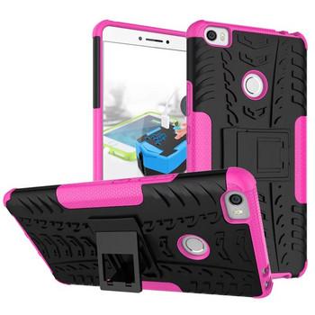 Удароустойчив  калъф за  телефон -модел Xiaomi Redmi 6A със стойка  в  розов цвят