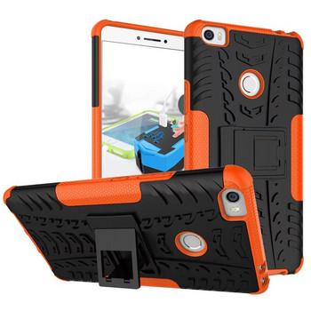 Удароустойчив  калъф за  телефон -модел Xiaomi Redmi 6A със стойка  в оранжев цвят