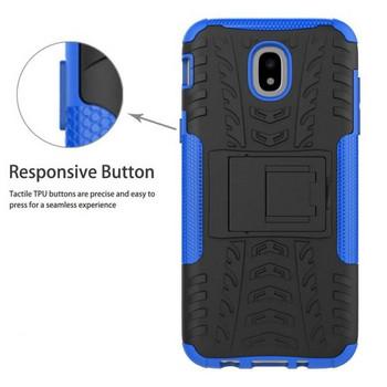 Удароустойчив силиконов калъф  със стойка за телефон Samsung Galaxy J5 2017,Син