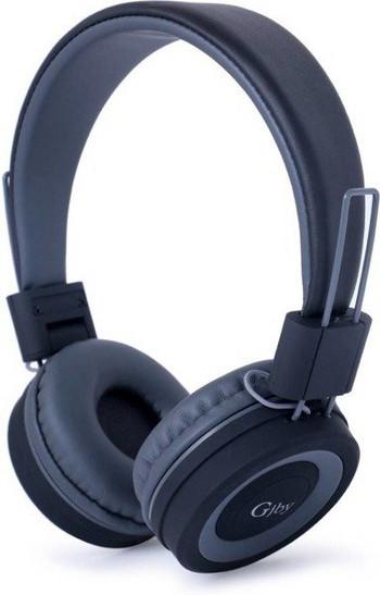Стерео слушалки с вграден микрофон модел GjBY GJ-14 AUDIO EXTRA BASS , съвместими с Android/iOS - черен цвят