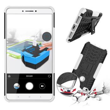 Удароустойчив  калъф за  телефон -модел Xiaomi Redmi 6A със стойка  в бял цвят