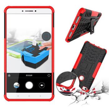 Удароустойчив  калъф за  телефон -модел Xiaomi Redmi 6A със стойка  в червен  цвят