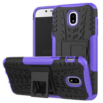 Удароустойчив силиконов калъф  със стойка за телефон Samsung Galaxy J5 2017, Син