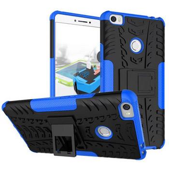 Удароустойчив  калъф за  телефон -модел Xiaomi Redmi 6A със стойка  в син   цвят