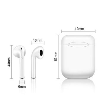Безжични bluetooth слушалки с Powerbank модел TWS I11 и Bluetooth 5.0 Touch, автоматично свързване - бял цвят
