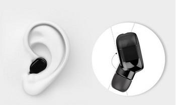Безжични bluetooth слушалка модел M8 с време за разговори до 5 часа и автоматично свързване - черен цвят