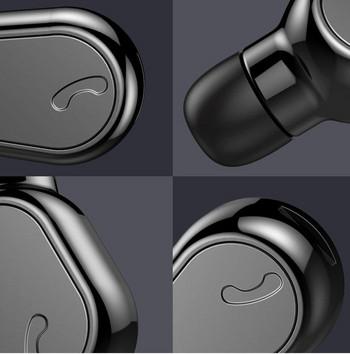 Безжична bluetooth слушалка модел M8 с време за разговори до 5 часа и автоматично свързване - черен цвят