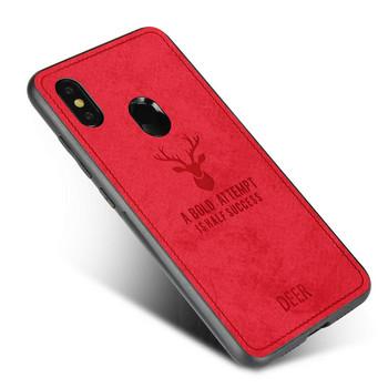 Противоударен силиконов калъф с гръб наподобяващ кожа за Xiaomi RedMi Note 5 Червен - Reer case
