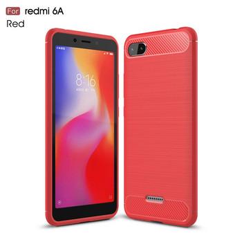 Силиконов гръб за Xiaomi Redmi 6A - удароустойчив в червен цвят