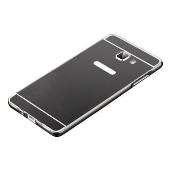 Метален калъф за телефон с огледален гръб за Samsung J5 2016 в черен цвят