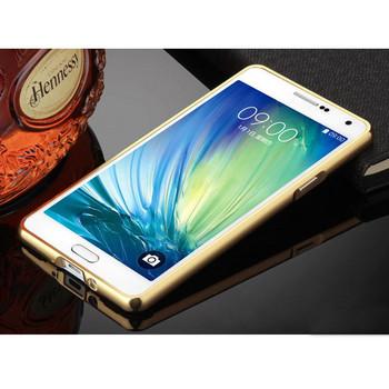 Метален калъф за телефон с огледален гръб за Samsung J5 2016 в златист цвят
