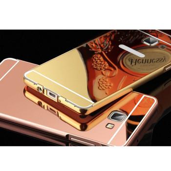 Метален калъф за телефон с огледален гръб за Samsung J5 2016 в розов цвят