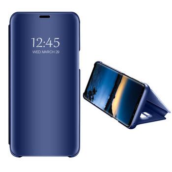 Огледален калъф модел Flip за телефон Xiaomi Redmi Note 4 в син цвят