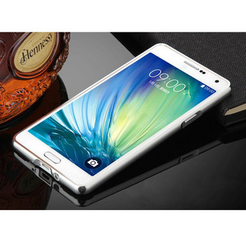 Метален калъф за телефон с огледален гръб за Samsung J5 2016 в сребрист цвят