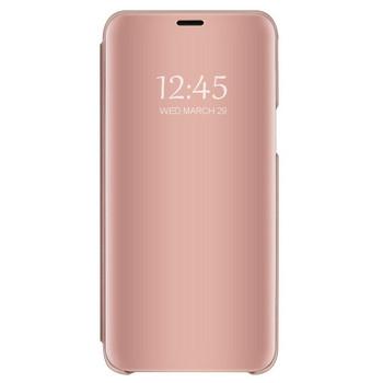 Огледален калъф модел Flip за телефон Xiaomi Redmi Note 4 в розов цвят