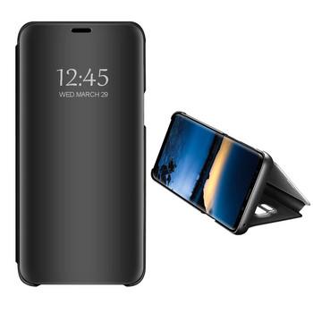 Огледален калъф модел Flip за телефон Xiaomi Redmi Note 4 в черен цвят