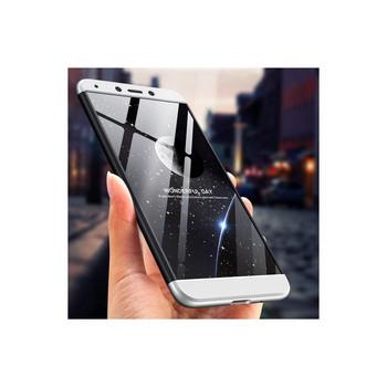 Защитен калъф тип протектор за Xiaomi Redmi 6A, Черен/Сребрист