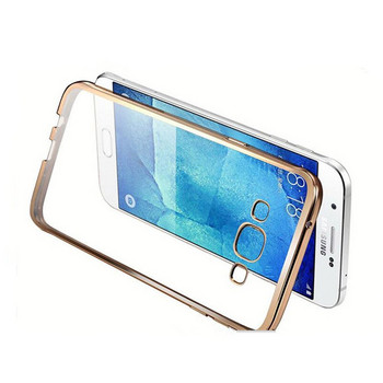 Удароустойчив силиконов калъф за Samsung galaxy J3 -  в златист цвят