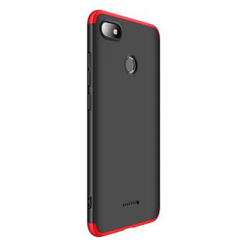 Защитен калъф тип протектор за Xiaomi Redmi 6A, Черен/Червен