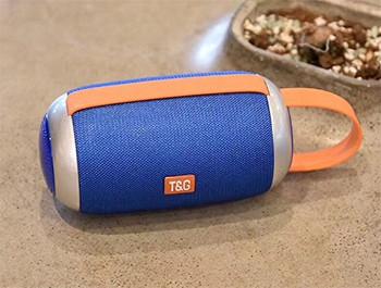 Преносима bluetooth колонка модел TG112  с  AUX и USB порт и слот за TF/SD card- син цвят