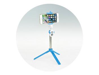 Bluetooth Селфи Стик и Трипод  съвместим с Android и iOS - Син