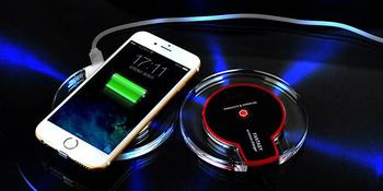 Комплект Безжично зарядно +QI ADAPTER MICRO USB, за телефон + Qi Безжичен приемник с micro USB-черен цвят