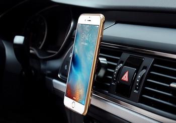 Магнитна стойка за мобилен телефон за кола - черен цвят