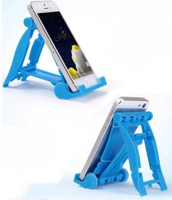 Пластмасова стойка за Таблет,Телефон за бюро, iPad и степени за корекция на ъгъла - син цвят