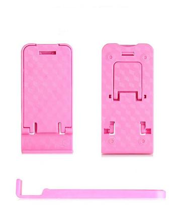 Пластмасова стойка за Телефон за бюро, 5 степени за корекция на ъгъла - Розов цвят