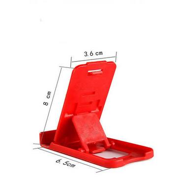 Пластмасова стойка за Телефон за бюро, 5 степени за корекция на ъгъла - Червен цвят