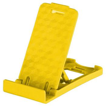 Пластмасова стойка за Телефон за бюро, 5 степени за корекция на ъгъла - Жълт цвят