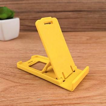 Пластмасова стойка за Телефон за бюро, 5 степени за корекция на ъгъла - цвят горчица