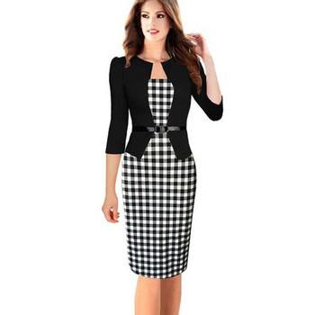 Стилна дамска рокля Slim модел в няколко цвята с размери до 4XL