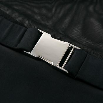 НОВ модел цял бански костюм с колан в черен цвят