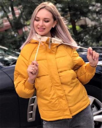 Μοντέρνο χειμωνιάτικο μπουφάν με κουκούλα σε διάφορα χρώματα
