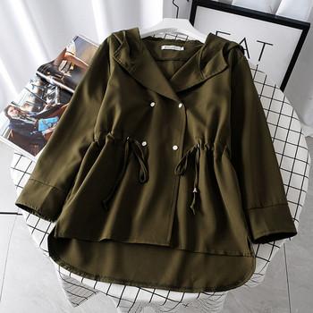 Μοντέρνο μπουφάν για το φθινόπωρο με κουμπιά και κορδόνια σε διάφορα χρώματα