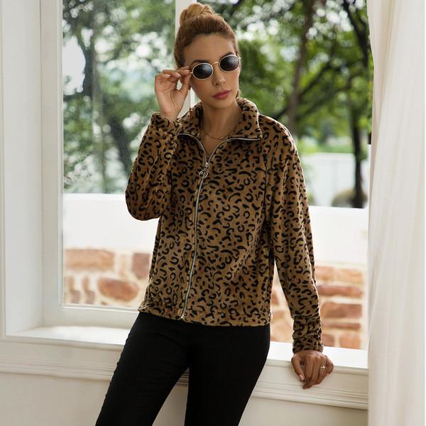 Γυναικείο μπουφάν για το φθινοπώρου με φερμουάρ