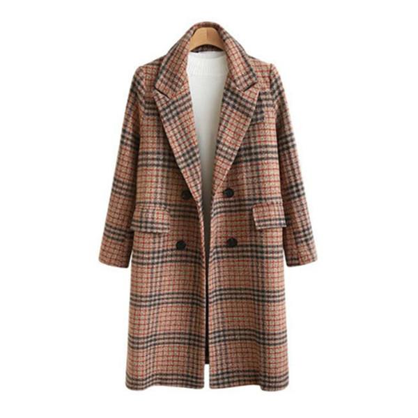 Елегантно дамско дълго палто в два цвята