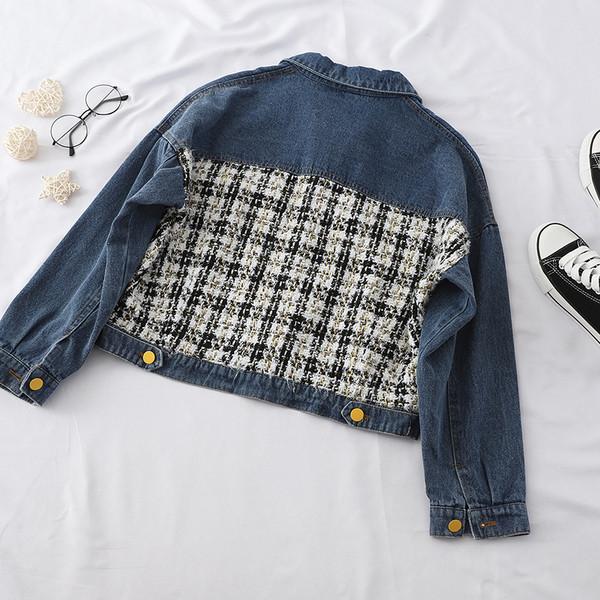 Γυναικείο τζιν μπουφάν φαρδύ μοντέλο σε δύο χρώματα